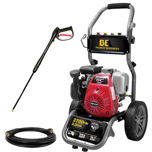 BE 2700 PSI (Gas - Cold Water) Pressure Washer w/ Honda Engine