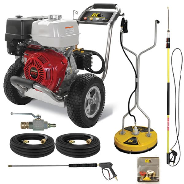 BE Professional 4000 PSI (Gas-Cold Water) Start Your Own Pressure Washing Business Kit w/ Honda Engine & SS Frame