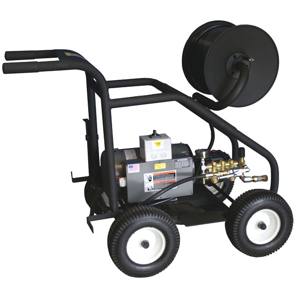 Cam Spray Professional 3000 PSI (Electric - Warm Water)  Portable Sewer & Drain Jetter (230V 1-Phase)