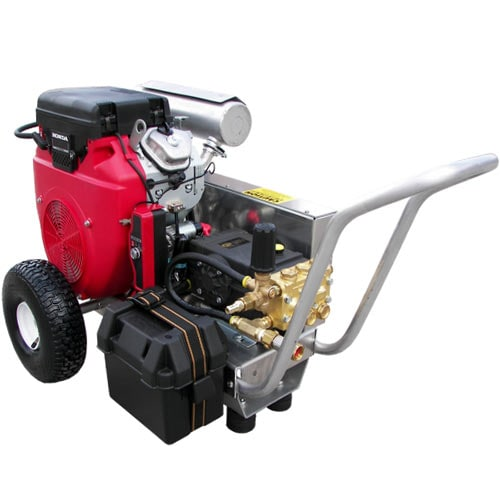 Pressure-Pro Professional 4000 PSI (Gas-Cold Water) V Belt-Drive Aluminum Frame Pressure Washer w/ Electric Start Honda