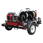 Pressure-Pro Professional 3500 PSI (Gas-Cold Water) Trailer Pressure Washer With Belt-Drive & Honda Engine