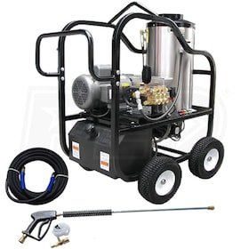 Pressure-Pro Professional 3000 PSI (Electric - Hot Water) Hot Shot Belt-Drive Pressure Washer (230V 1-Phase)