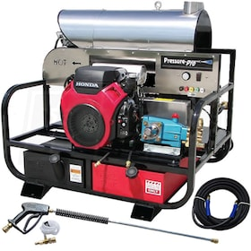 Pressure-Pro Professional 4000 PSI (Gas - Hot Water) Super Skid Belt-Drive Pressure Washer w/ Honda Engine & CAT Pump