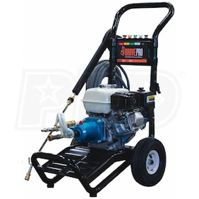 BravePro Professional 3000 PSI (Gas - Cold Water) Pressure Washer w/ Honda GX Engine & CAT Pump