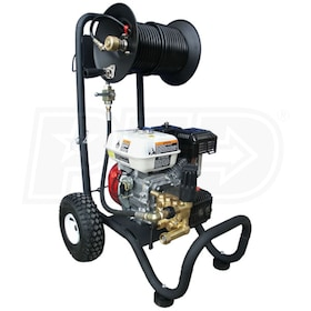 Cam Spray Professional 2500 PSI (Gas - Cold Water) Portable Jetter w/ Honda Engine