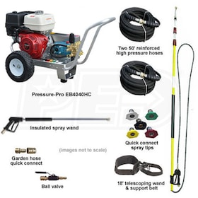 Pressure-Pro Basic Start Your Own Pressure Washing Business Kit w/ Aluminum Frame, CAT Pump & Belt-Drive Honda Engine