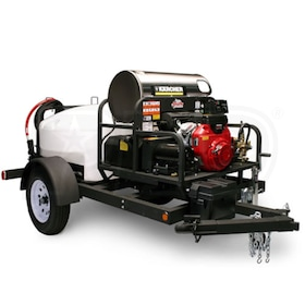 Shark Commercial 3000 PSI (Gas-Hot Water) Trailer Pressure Washer w/ Steam