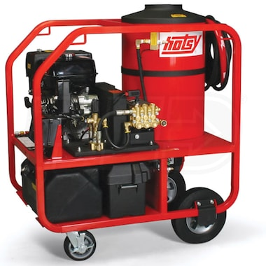 Hotsy Professional 3500 PSI (Gas - Hot Water) Belt-Drive Pressure Washer w/ Honda Engine & Electric Start