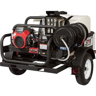 Northstar Professional 4000 PSI (Gas-Hot Water) Trailer Pressure Washer w/ Honda Engine
