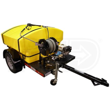 Cam Spray Professional 2500 PSI (Gas-Cold Water) Trailer Pressure Washer w/ Honda Engine