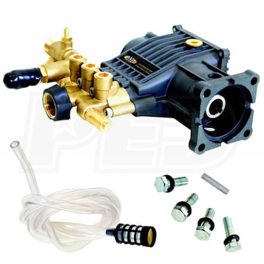 AAA Fully Plumbed 3200 PSI 2.8 GPM Horizontal Triplex Plunger Replacement Pressure Washer Pump Kit w/ PowerBoost