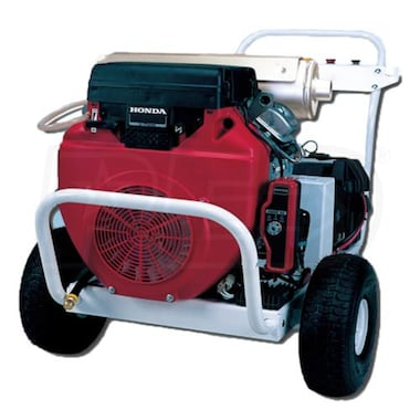 Pressure-Pro Professional 6000 PSI (Gas-Cold Water) Polychain Belt-Drive Aluminum Frame Pressure Washer w/ Honda Engine
