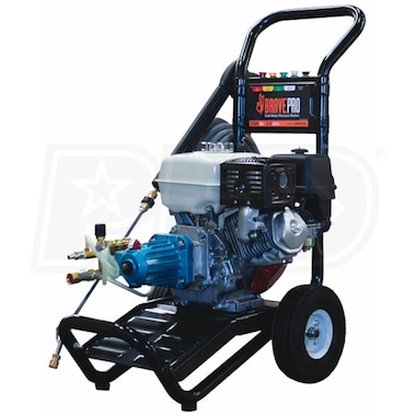 BravePro Professional 3300 PSI (Gas - Cold Water) Pressure Washer w/ Honda Engine & CAT Pump