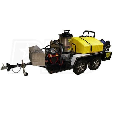 Cam Spray Professional 3000 PSI (Gas-Hot Water) Trailer Pressure Washer w/ Honda Engine