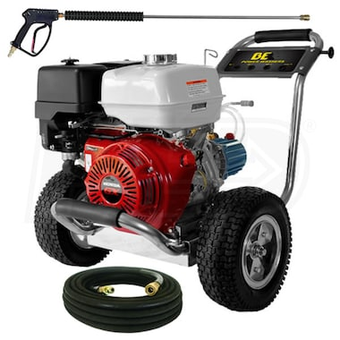 BE Professional 4200 PSI (Gas-Cold Water) Pressure Washer w/ CAT Pump & Honda Engine