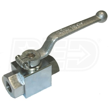 "MTM Hydro 3/8"" F Chrome Plated Steel Ball Valve"