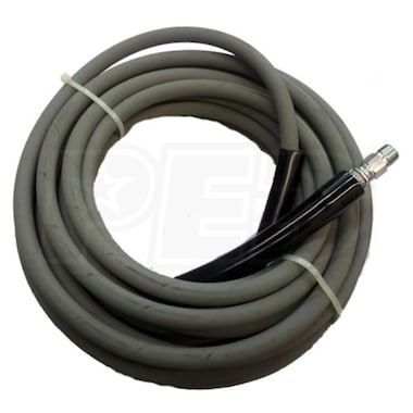 "MTM Hydro Kobrajet 50-Foot (3/8"") Non-Marking Grey 4000 PSI High Pressure Hose w/ Quick Connectors"